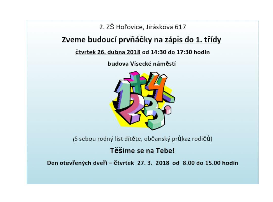 Aktuality - 2. Základní škola Hořovice d47279cf45